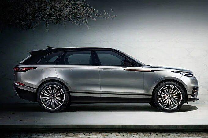 Silver Range Rover Velar