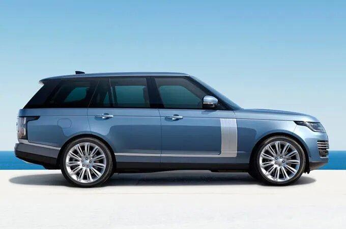 Blue Range Rover